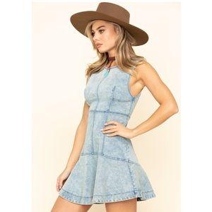 NWT Free People Alex Denim Mini Dress